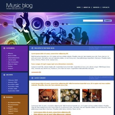 music blog templates templatemonster