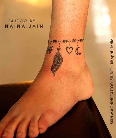 studio 8 tattoo freehand anklet by naina jain nains tattoos at