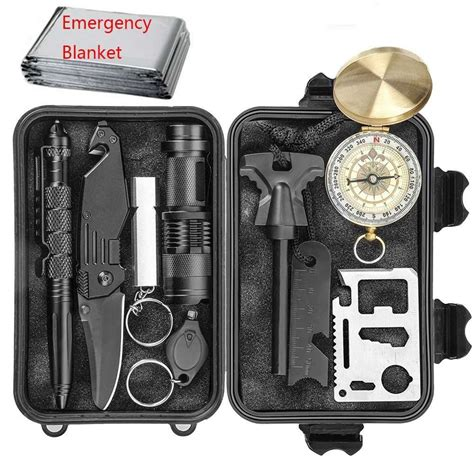 10 In 1 Equipment Cing Hiking Gear Survival Tool Compass Start emergency survival kit waterproof gadgetking