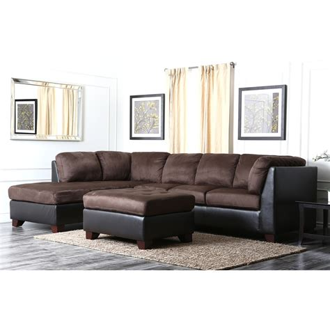 black and brown sectional 15 abbyson living charlotte dark brown sectional sofa and