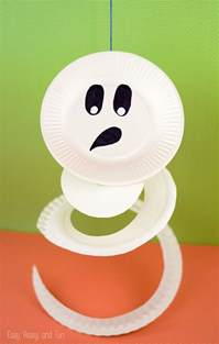 paper plate ghost paper plate crafts for kids easy