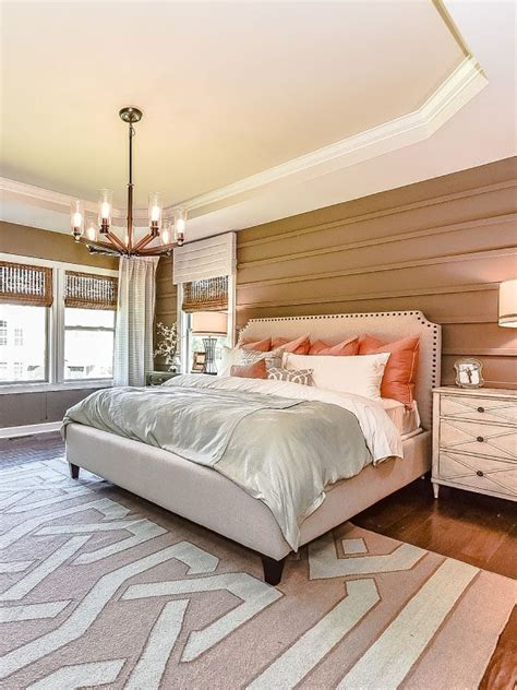 cream and orange bedroom an open and bright master bedroom with touches of rust