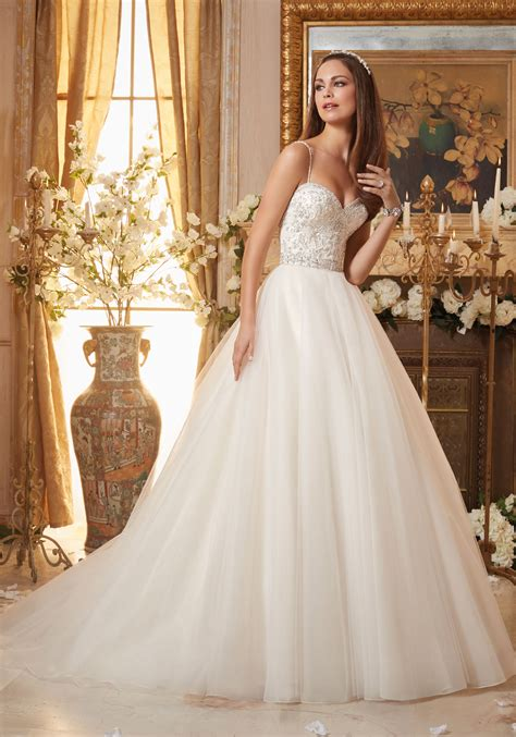 beaded bridal gown crystal beaded embroidery on tulle ball gown style 5463