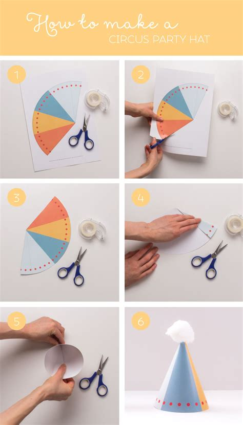 How To Make A Birthday Hat Out Of Paper - free printable geo circus hats tinyme