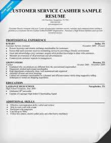 Exle Of Cashier Resume by Customer Service Cashier Resume Sle Work Resume Exles Resume And Customer