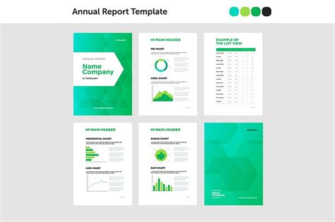 modern annual report template brochure templates