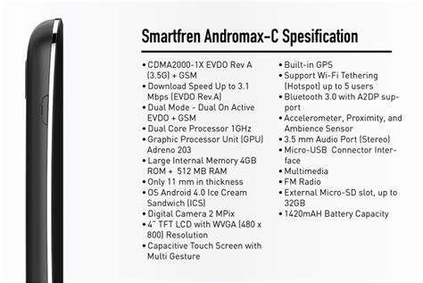F C Andromax C spesifikasi dan harga smartfren andromax c spesifikasi