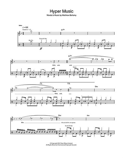 tutorial drum hysteria hyper music drum tab by by muse drums 42107