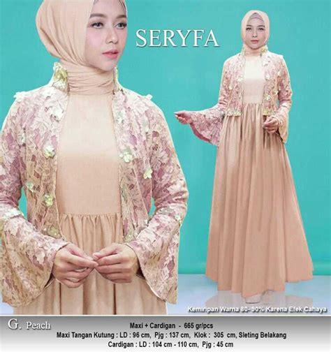 Gamis Muslim Polos Babat Busui Maxi Dress Wafle Klok Murah model gamis pesta cardigan terbaru seryfa model baju gamis terbaru