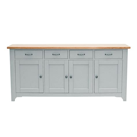 Grey Dining Room Sideboard Malvern 4 Door Large Sideboard Grey Oak Top