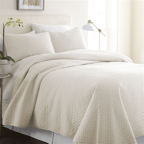ivory quilted coverlet wholesale soft essentials premium ultra soft herring