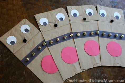 How To Make Paper Reindeer - easy crafts for paper bag reindeer puppets