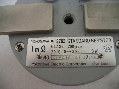 yokogawa resistors yokogawa resistors 28 images yokogawa type 2782 0 1 ohm resistor resistance lab standard