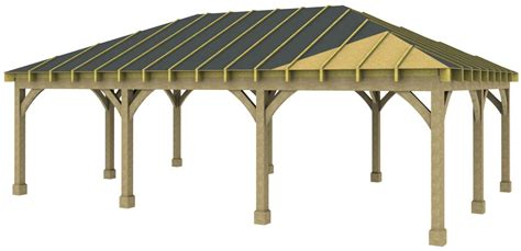 3 Bay Carport Kit Prices 3 Bay Hipped Carport Basic Kit As Supplied Without