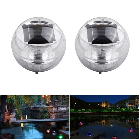 2x Led Light Solar Power Swimming Color Changing Floating Solar Swimming Pool Lights