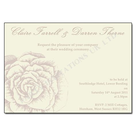 vintage wedding invitations with roses vintage wedding invitations invitations uk ltd