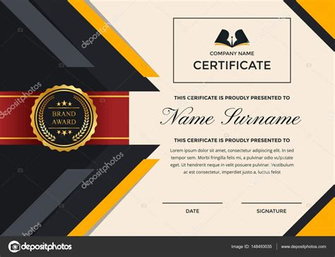 certificate design company business certificate of achievement template choice image