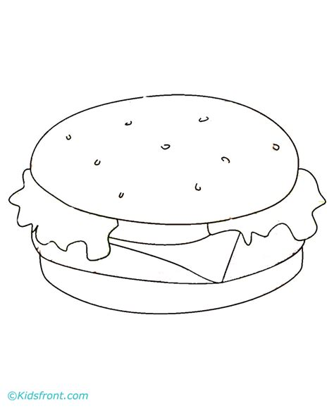 cheese burger colouring pages