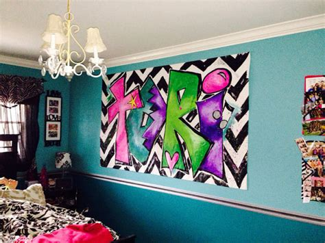 artwork for teenage bedrooms personalized painting for tween girls room large canvas art