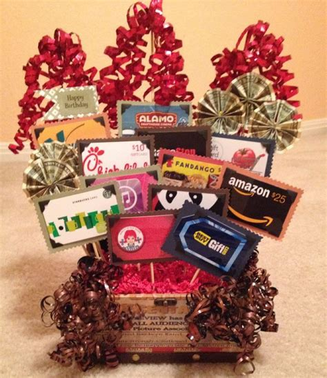 Gift Baskets With Gift Cards - 14 best images about gift card basket ideas on pinterest gift card displays gift