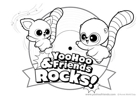 yoohoo and friends coloring pages az coloring pages