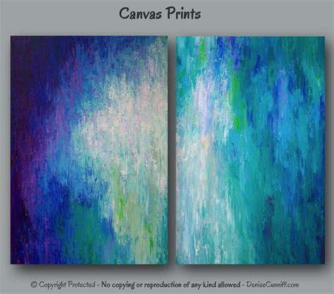 canvas prints large abstract canvas art print set wall art teal home