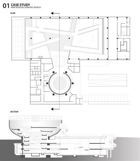 project plan sections sky pathawee khunkitti bmw museum munich plan and