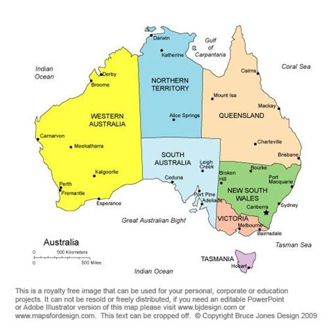 map of australia with states a map of australia clearly illustrating the states and