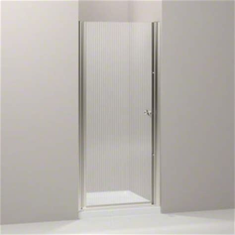 Kohler Frameless Shower Door Kohler K 702402 G54 Mx Fluence Frameless Pivot Shower Door With Falling Lines Glass Matte