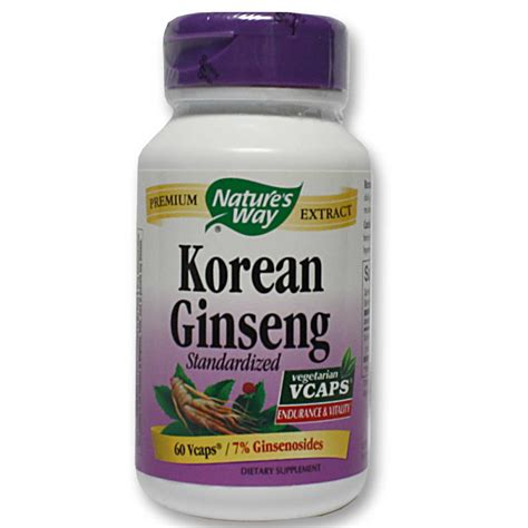 Dijamin Nature S Health Korean Ginseng 500mg 100 Capsules nature s way korean ginseng standardized 550 mg 60 capsules evitamins