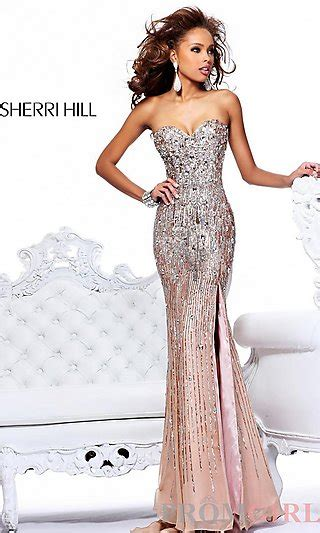 Prom Dresses, Celebrity Dresses, Sexy Evening Gowns at PromGirl: Sequin Strapless Sweetheart Dress