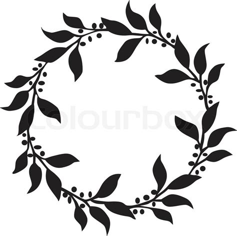 Home Decor Images Free by Circle Of Leaves Stock Vector Colourbox
