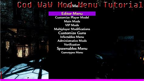 waw mod menu tutorial call of duty waw mod menu download tutorial pc youtube