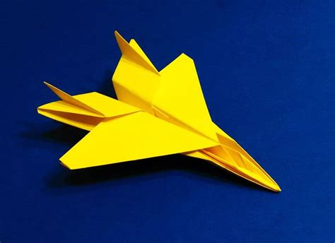 Origami Fighter Plane - how to make an f15 eagle jet fighter paper plane tadashi