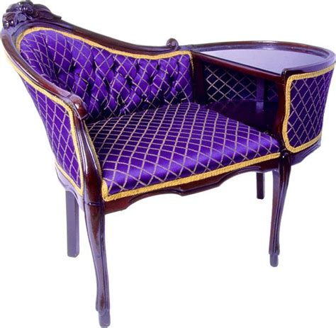 chaise lounge mall purple and gold style gossip bench this is gorgeous