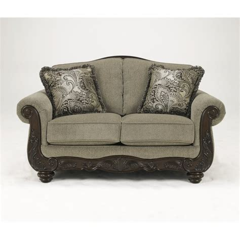 Chenille Sofas And Loveseats Martinsburg Chenille Loveseat In Meadow 5730035