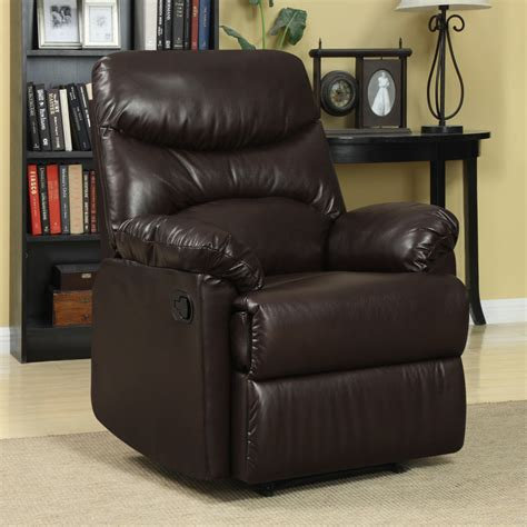 wall hugger recliners small spaces bedroom synthetic light blue leather indoor rocking chair