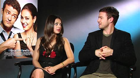 Gets Interviewed Dating by Justin Timberlake Mila Kunis Friends With Benefits