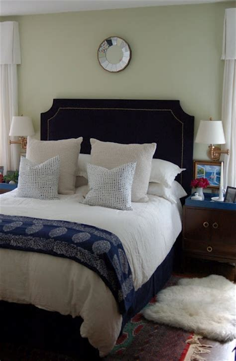 17 Best Images About Master And Guest Bedrooms On Navy Blue Headboard