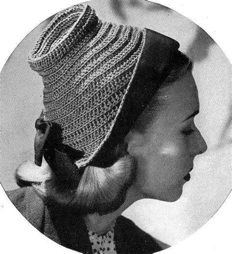 vintage pattern com cloche hat 1940s vintage pattern haberdash for ladies