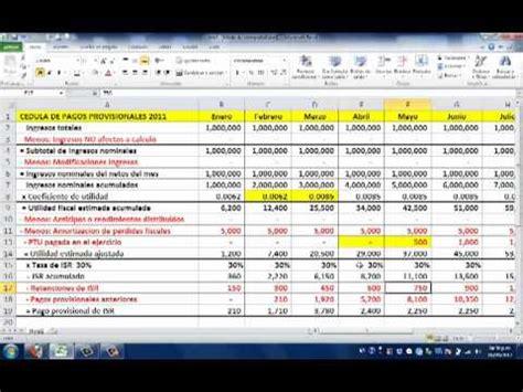 excel formato para pago de impuestos 2016 persona fisica con actividad empresarial pagos provisionales de impuestos youtube