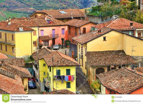 house in italian italian houses diano d alba italy stock photo image 27515990