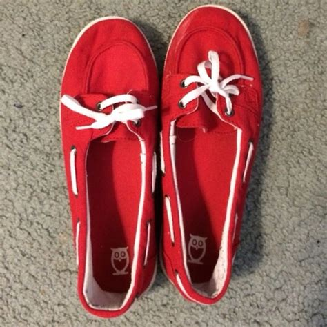 boat shoes target 50 off mossimo supply co shoes red canvas boat shoes