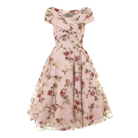 swing vintage dresses collectif vintage dorothy tulle floral swing dress