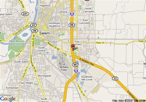 map of s oregon map of rodeway inn salem salem