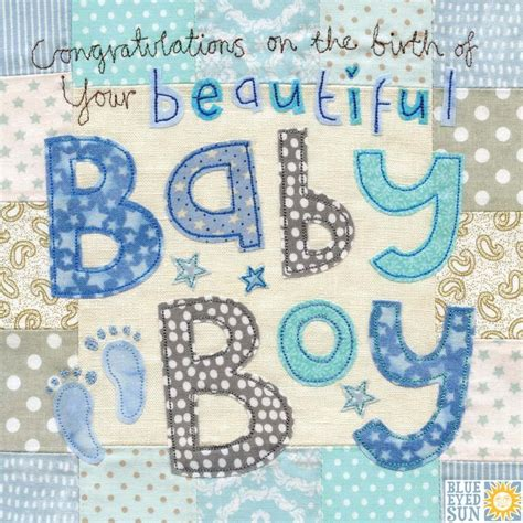 Cle1256 Piyama Baby Motif Boys New Born congratulations on the birth of your beautiful baby boy card large luxury new baby card