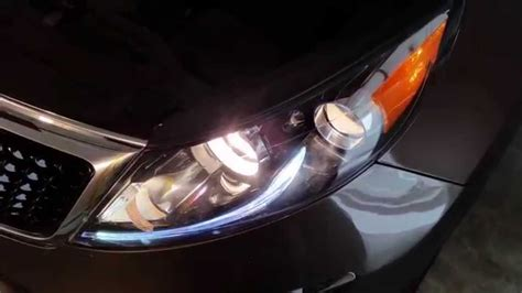 Kia Optima Headlight 2014 Kia Sportage Suv Testing Headlights After Changing
