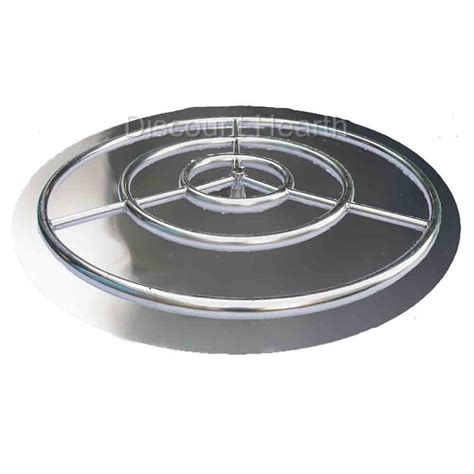 Firepit Ring 18 24 30 36 Stainless Steel Burner Pan With Burner Ring Pit Glass
