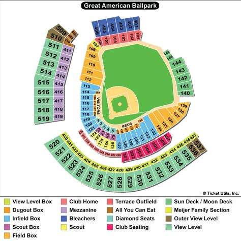 cincinnati reds seating chart with seat numbers gabp seating chart vipseats great american park