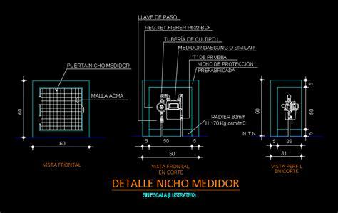 gas meter nicho dwg block  autocad designs cad